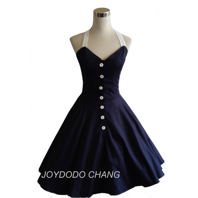 Yaz kadın dress 50 s 60 s salıncak vintage dress retro rockabilly polka dot dress marilyn monroe tarzı vestidos de mujer
