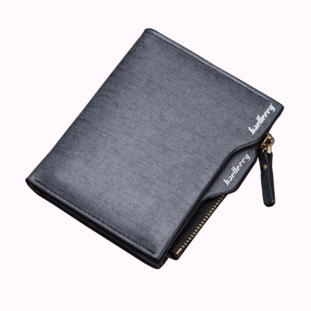 a578aa2d9ca4c Brand Baellerry Men Small Short Wallet Coin Purses Male PU Leather Money  Billfold Coin Pocket ID